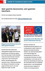 Newsletter vom 04. April 2014