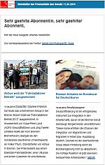 Newsletter vom 11. April 2014