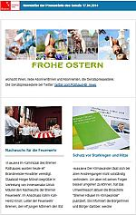 Newsletter vom 17. April 2014