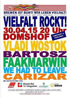 Das Plakat zum Open-Air-Konzert am 30. April 2015