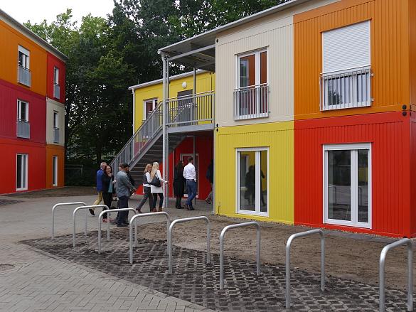Das Übergangswohnheim an der Corveystraße konnte heute an die Innere Mission übergeben werden