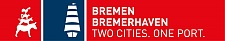 Logo: Bremen Bremerhaven. Two Cities. One Port.