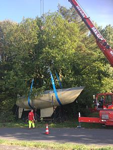 An den Haken genommen: Erste Boote werden aus dem öffentlichen Straßenraum entfernt, JPG, 71.8KB