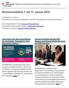 Screenshot des Newsletters vom 11. Januar 2019, JPG, 26.5 KB