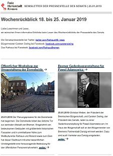 Screenshot des Newsletters vom 25. Januar 2019, JPG, 26.3 KB
