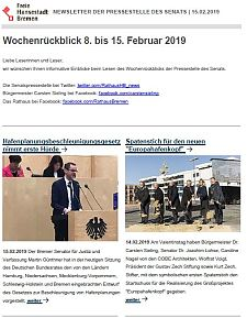 Screenshot des Newsletters vom 15. Februar 2019, JPG, 26.3 KB