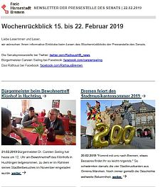 Screenshot des Newsletters vom 22. Februar 2019, JPG, 25.0 KB
