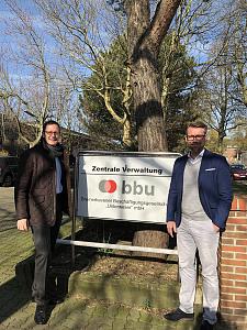 v.l.n.r.: Senator Günthner und Gerrit Michaelis (Geschäftsführer BBU), JPG, 77.1KB