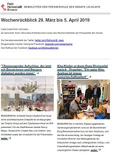 Screenshot des Newsletters vom 05. April  2019, JPG, 28.1 KB