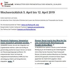 Screenshot des Newsletters vom 12. April  2019, JPG, 20.8 KB