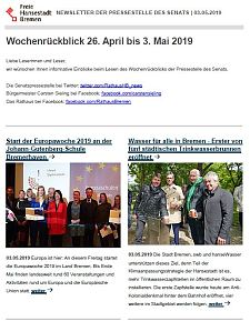 Screenshot des Newsletters vom 3. Mai 2019, JPG, 26.8 KB