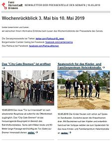 Screenshot des Newsletters vom 10. Mai 2019, JPG, 27.0 KB
