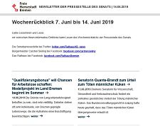 Screenshot des Newsletters vom 14. Juni 2019, JPG, 16.0 KB