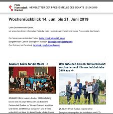 Screenshot des Newsletters vom 21. Juni 2019, JPG, 22.1 KB