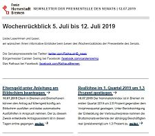 Screenshot des Newsletters vom 12. Juli 2019, JPG, 19.3 KB