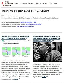 Screenshot des Newsletters vom 19. Juli 2019, JPG, 26.7 KB