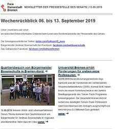 Screenshot des Newsletters vom 13. September 2019, JPG, 23.1 KB