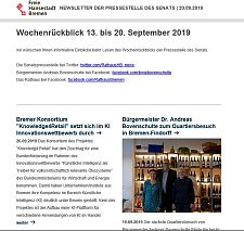 Screenshot des Newsletters vom 20. September 2019, JPG, 20.7 KB