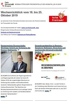 Screenshot des Newsletters vom 25. Oktober 2019, JPG, 26.5 KB