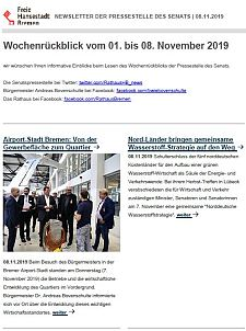 Screenshot des Newsletters vom 8. November 2019, JPG, 26.0 KB