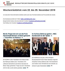 Screenshot des Newsletters vom 30. November 2019, JPG, 22.3 KB