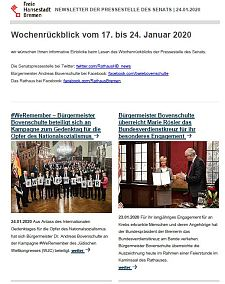 Screenshot des Newsletters vom 24. Januar 2020, JPG, 26.3 KB