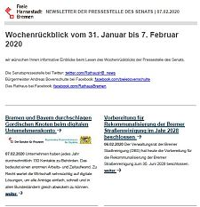 Screenshot des Newsletters vom 7. Februar 2020, JPG, 20.7 KB