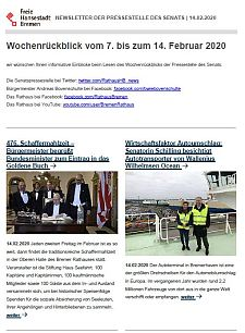 Screenshot des Newsletters vom 14. Februar 2020, JPG, 28.4 KB