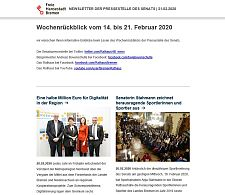 Screenshot des Newsletters vom 21. Februar 2020, JPG, 18.0 KB