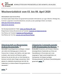 Screenshot des Newsletters vom 9. April 2020, JPG, 21.8 KB