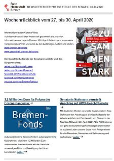 Screenshot des Newsletters vom 30. April 2020, JPG, 26.4 KB