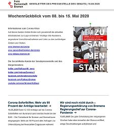 Screenshot des Newsletters vom 15. Mai 2020, JPG, 21.9 KB