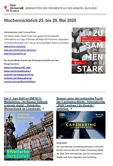 Screenshot des Newsletters vom 29. Mai 2020, JPG, 29.3 KB