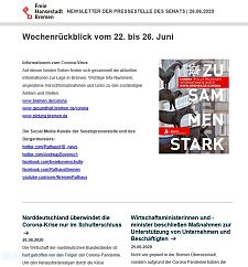 Screenshot des Newsletters vom 26. Juni 2020, JPG, 20.4 KB