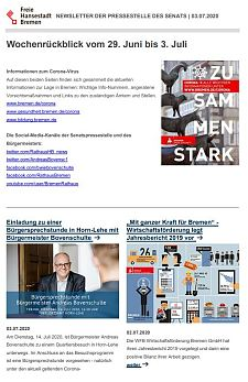 Screenshot des Newsletters vom 3. Juli 2020, JPG, 30.0 KB