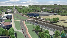 BA2-2 Visualisierung Tunnelportmal - verlegte Neuenlander Strasse  Foto: Deges