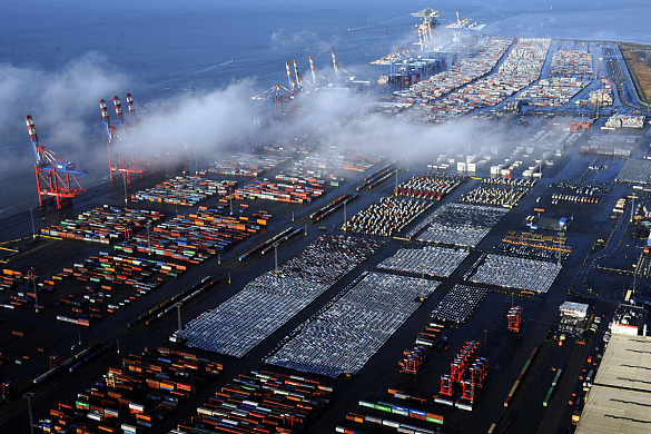 Der Container-Terminal in Bremerhaven, wie er heute aussieht